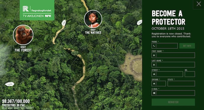 Rainforest Guardians best website design award winner 2016
