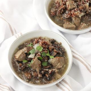Roasted Mushroom and Beef Soup