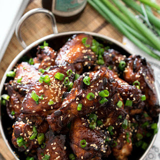 Korean Barbecue Chicken Wings.