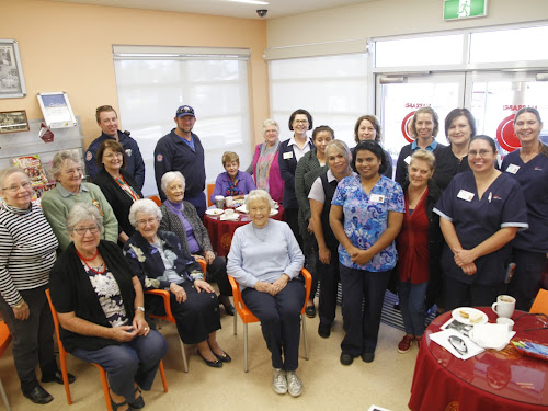 The medical community gathers to remember Florence Nightingale, back, Narrabri Ambulance officers Rick Duggan and Ken Morrison, with auxiliary members and nursing staff Beryl Heath, Neila Bourke, Community Health manager Margo  Carberry, Rebecca Howe, Maxine Ambrose, Jenna Read, Traci Morley, Debbie Cunningham, second row, Annie Lampe, Jenny Seccombe, Neurelle McTaggart, Annette Radford, Tammy Baker, Janice Anderson and Cindy Bulmer, front, Val Falkiner, Hospital Auxiliary president Sally Alexander, Bebe Mackey and Usha Kuthirayodan.