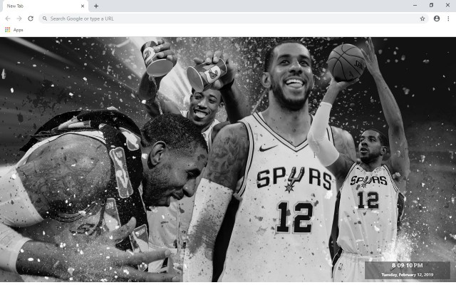 LaMarcus Aldridge NBA New Tab Theme