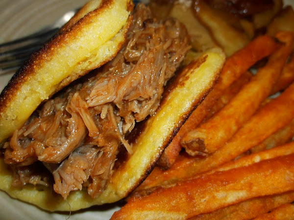 Slow-cooked Pulled Pork Corn Cake Tacos & Sandwich Recipe