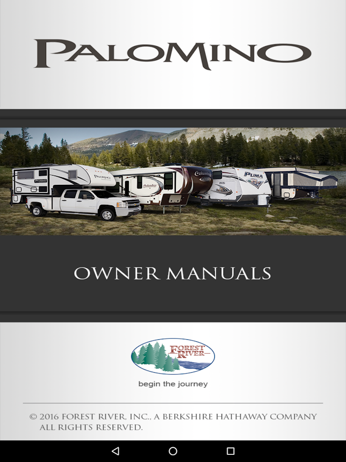 Palomino RV Owner's Kit- screenshot