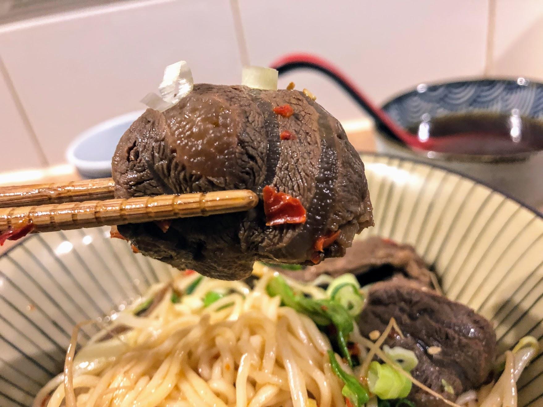 牛腱肉,有滷過還蠻好吃的喔