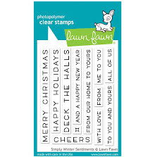 Lawn Fawn Clear Stamps 3X4 - Simply Winter Sentiments