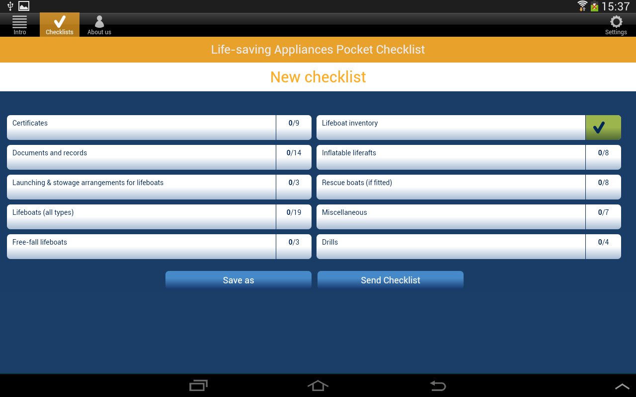 LSA Pocket Checklist- screenshot