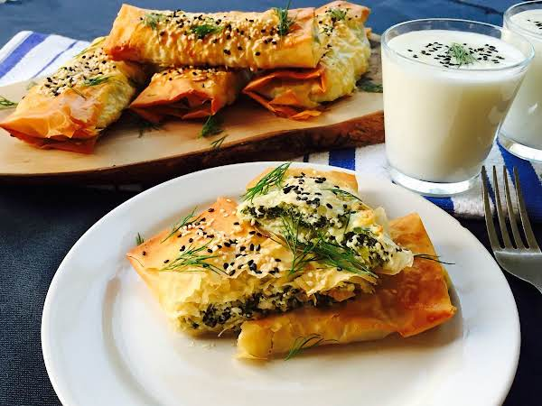 Feta And Ricotta Cheese With Spinach And Filo Wrap Recipe