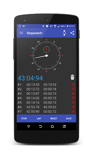 Stopwatch android wear