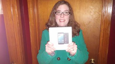 Photo: Nexus 5X winner Adam who gave the phone to his wife who's phone broke 2 days before winning the giveaway!