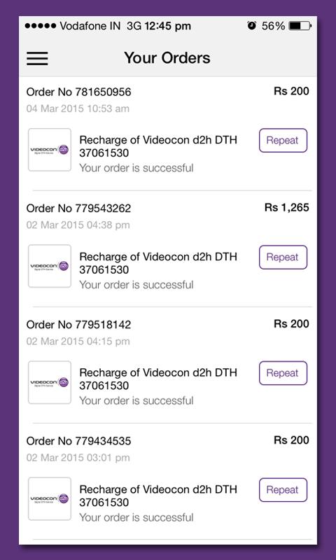 Videocon d2h Recharge - Revenue & Download estimates