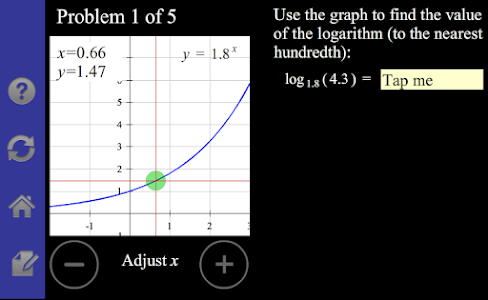 Logarithm/Exponential Tutor screenshot 1