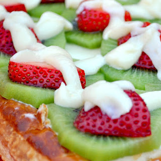 White Chocolate Fruit Tart.