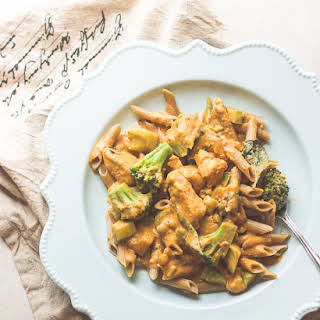 Thai Chicken and Pumpkin Curry Pasta.