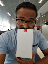 Photo: Sunday giveaway winner Mrigank P. showing off his new OnePlus 5T.
