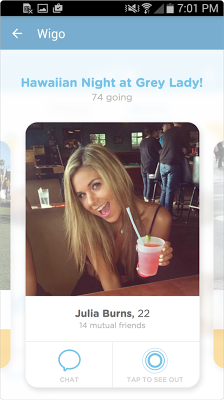 WiGo - Who Is Going Out? - screenshot