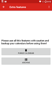 iCal Import/Export CalDAV Screenshot