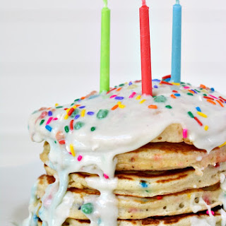 Funfetti Cake Batter Birthday Pancakes