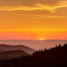 Last of the Sun with Green Flash by Drew Campbell - Landscapes Sunsets & Sunrises