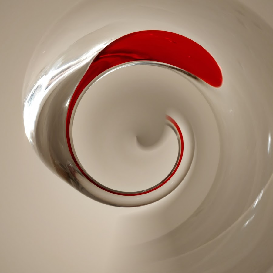 A drop of blood in the mixer by Did Art - Digital Art Abstract ( drop, red, digital, white, twirl, abstract )