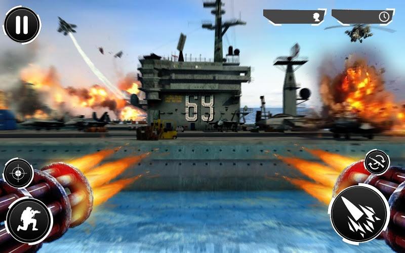 Navy Gunner Shoot War 3D Screenshot 0