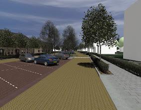 Photo: Impressie van toekomstig straatbeeld. Met suggestie voor mogelijke soorten nieuwbouw.  Ivo Blaauw Gemeente Hilversum