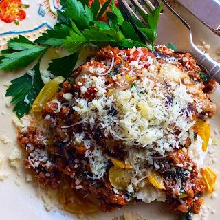 Cheesy Portobello Lasagna