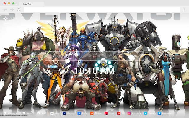 Overwatch Popular HD games New tabs Themes