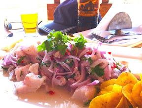 Photo: HUGE pile of ceviche!  Los Organos.