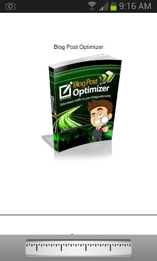 Blog Post Optimizer app