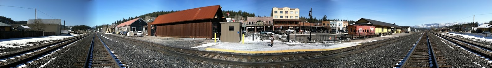 Photo: Panorama at Truckee rail station. Where's the snow!?