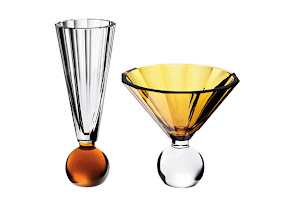 """Photo: MOSER USA """"Her Majesty"""" crystal vase, 6.7″ high, 8″ diameter. $770. """"His Majesty"""" crystal vase, 10.4″ high, 4″ diameter. $730. Czech Republic. Seventh Floor. 212 872 2686"""