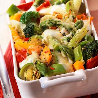 Gemüseauflauf mit Schafskäse