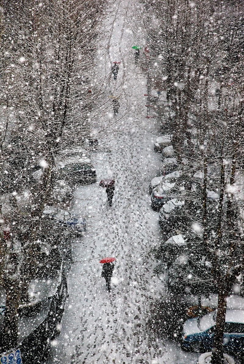nevicata a Roma di photoposter