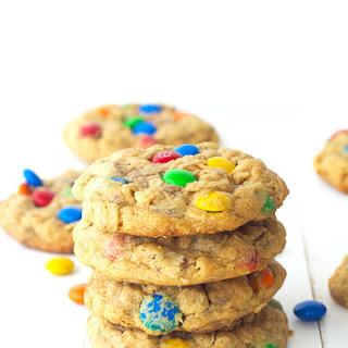 M&M Peanut Butter Monster Cookies.
