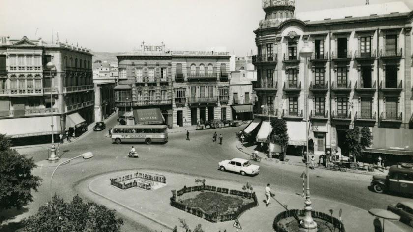 Evacuatorio de Puerta de Purchena en 1965.