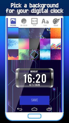 Big Digital Clock Live Wallpaper screenshots 2