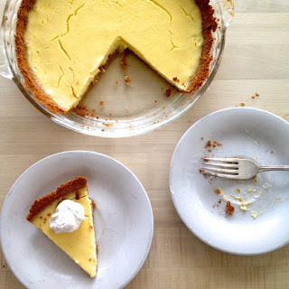 Tangy Lemon Greek Yogurt Pie.