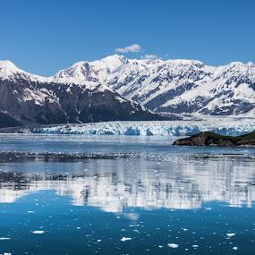 Hubbard Glacier by John Chitty - Landscapes Mountains & Hills ( glacier, celebrity, hubbard, alaska, cruise, infinity,  )