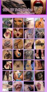 Design Tattoo 3D - náhled