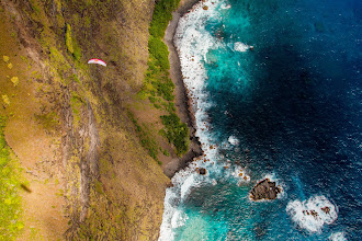 Photo: Horacio flying over Fatu Hiva
