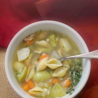 Homemade Chicken & Pasta Soup