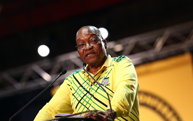 FILE PHOTO: ANC President Jacob Zuma addresses delegates at the 54th ANC National Conference taking place in Nesrac.