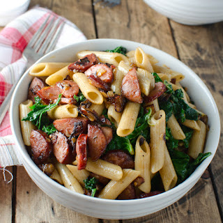 Whole-Wheat Pasta with Spicy Chorizo and Kale.