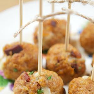 Cheese Stuffed Chorizo Meatballs