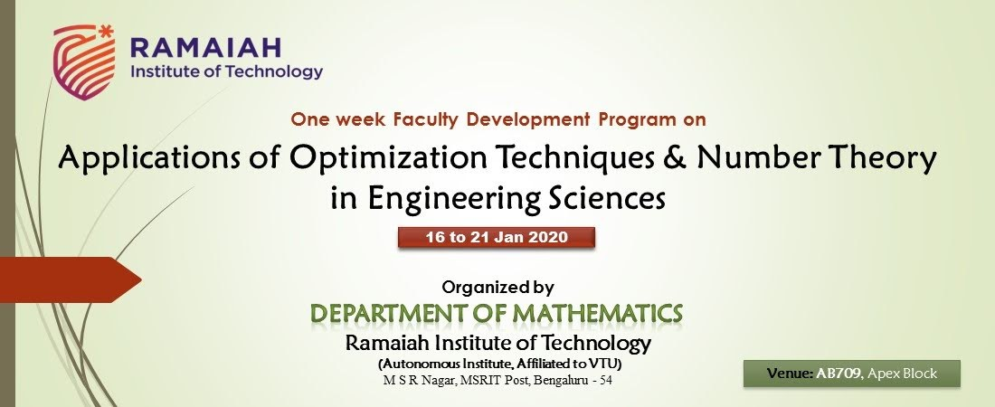 FDP on Optimization Techniques for Engineering Sciences