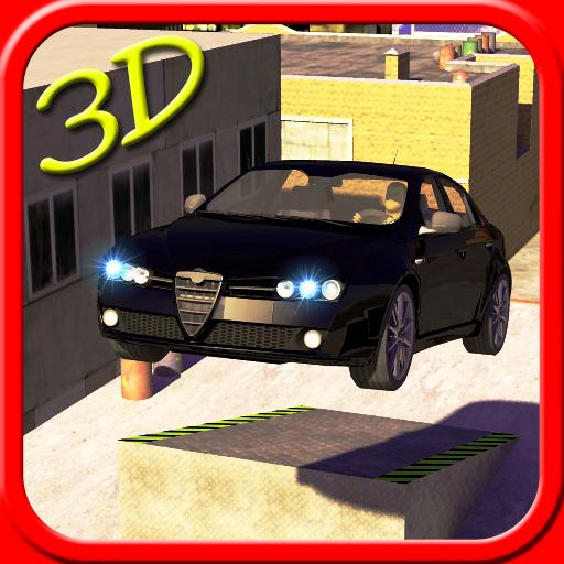 カースタント3D屋根ジャンプ 賽車遊戲 App LOGO-APP試玩