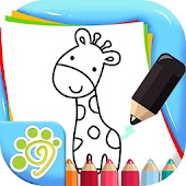 Simple line drawing for kids
