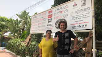María Flores y Ángel Vicente, de Aku Aku Mojácar. Foto: Alegría Vicente