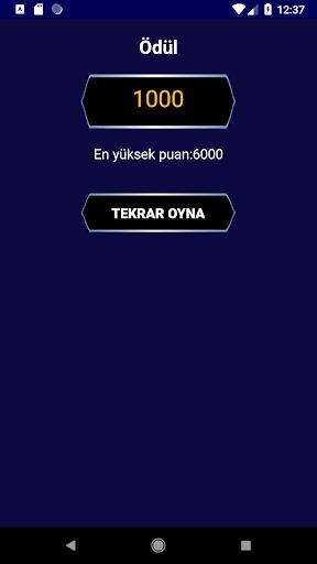 Milyoner Bilgi Yaru0131u015fmasu0131 1.0.6 screenshots 5