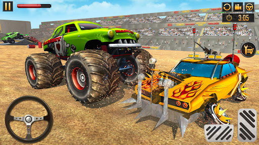 Télécharger Gratuit Fearless Monster Truck Derby Crash Demolition Game apk mod screenshots 3